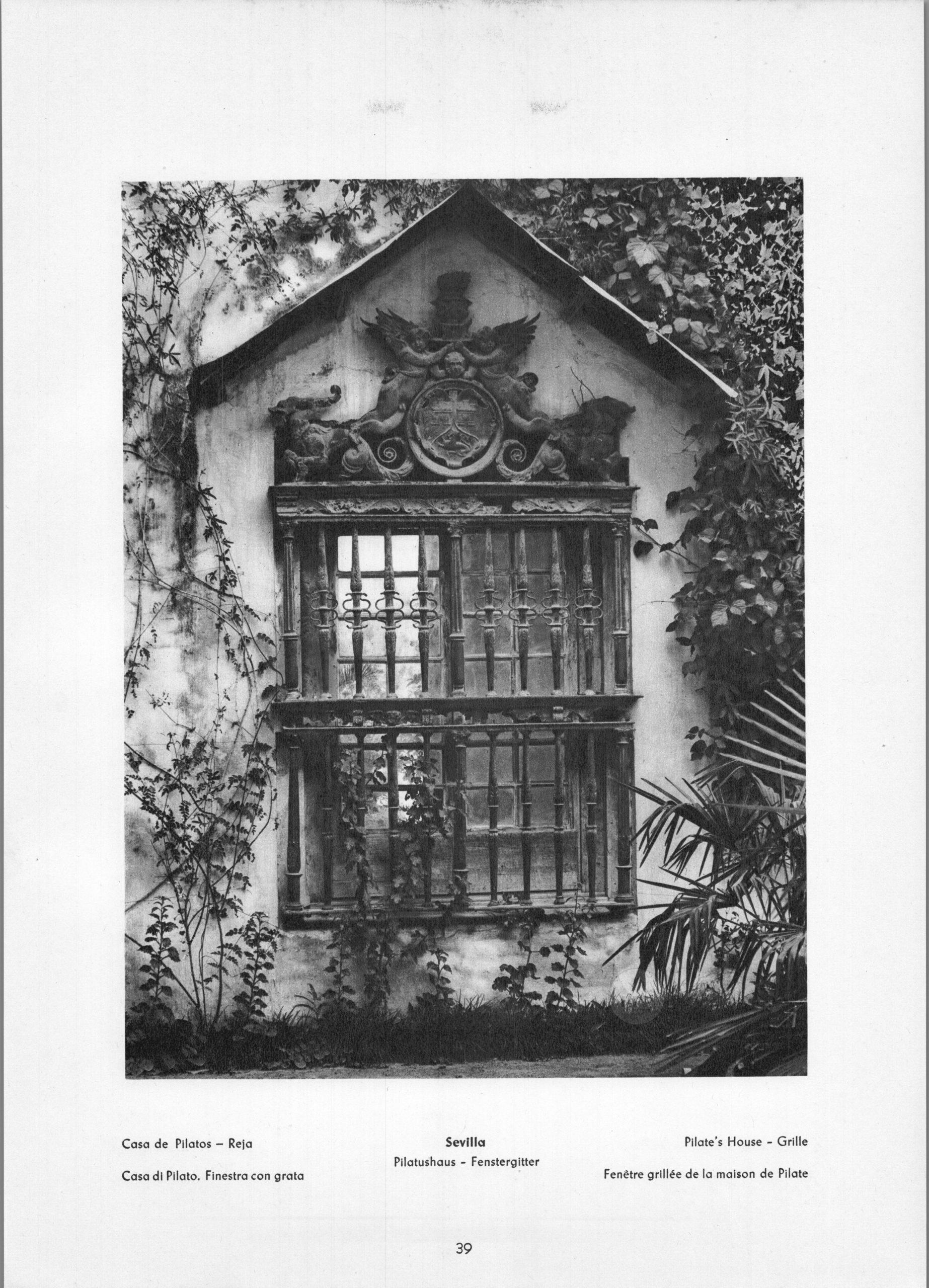 Sevilla - Pilate's House - Grille