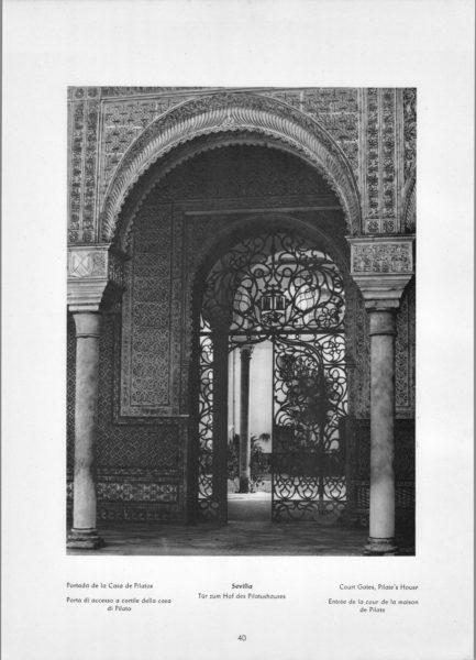 Photo 040: Sevilla – Court Gates – Pilate's House