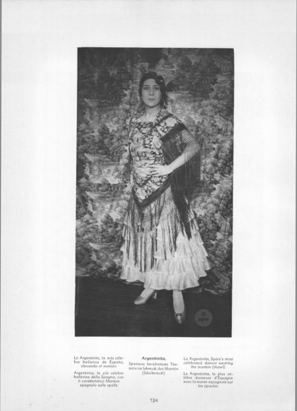Photo 124: Jerez La Argentinitia – Spains most celebrated dancer wearing the manton (shawl)