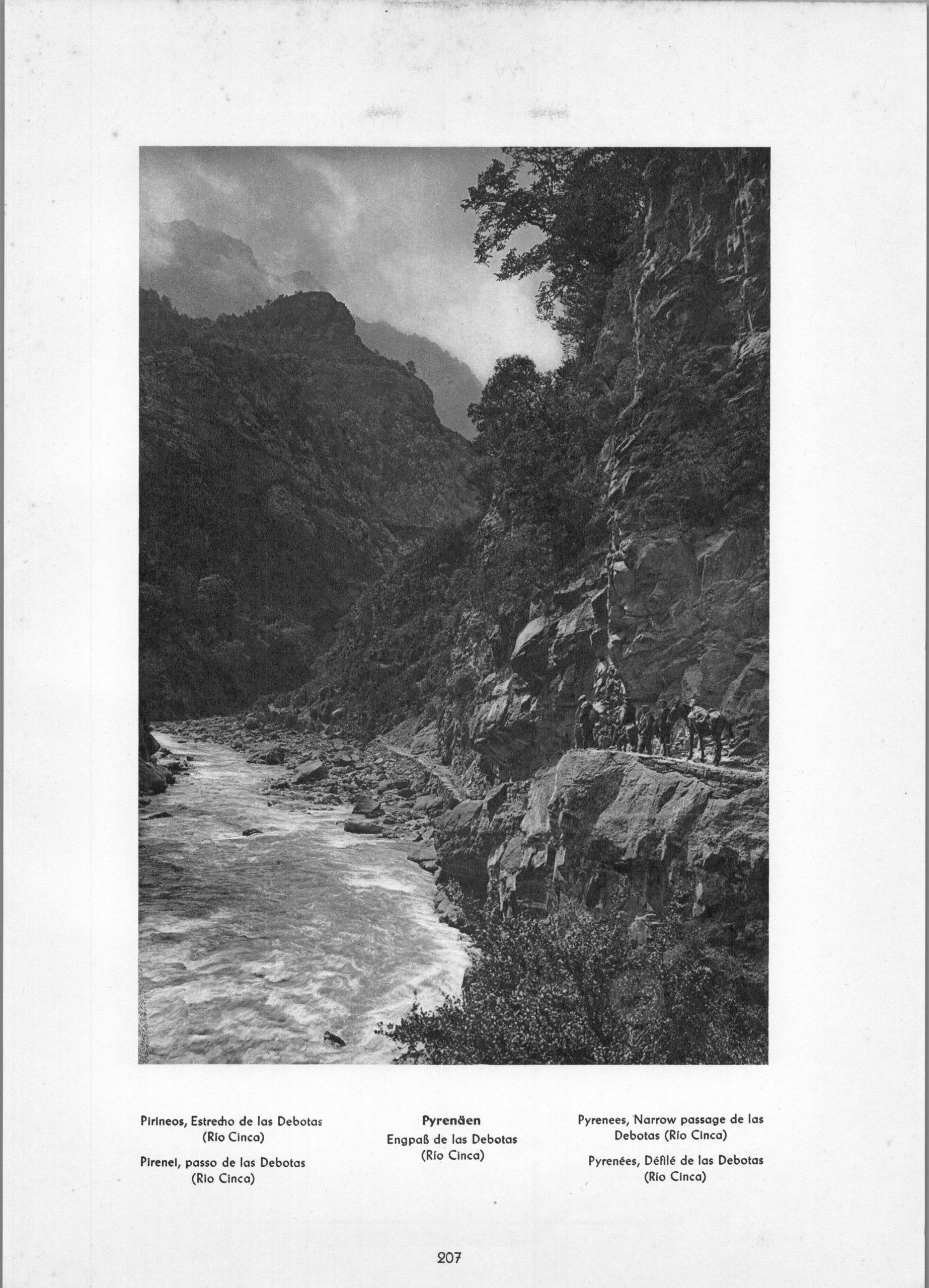 Pyrenees Rio Cinca - Narrow passage de las Debotas